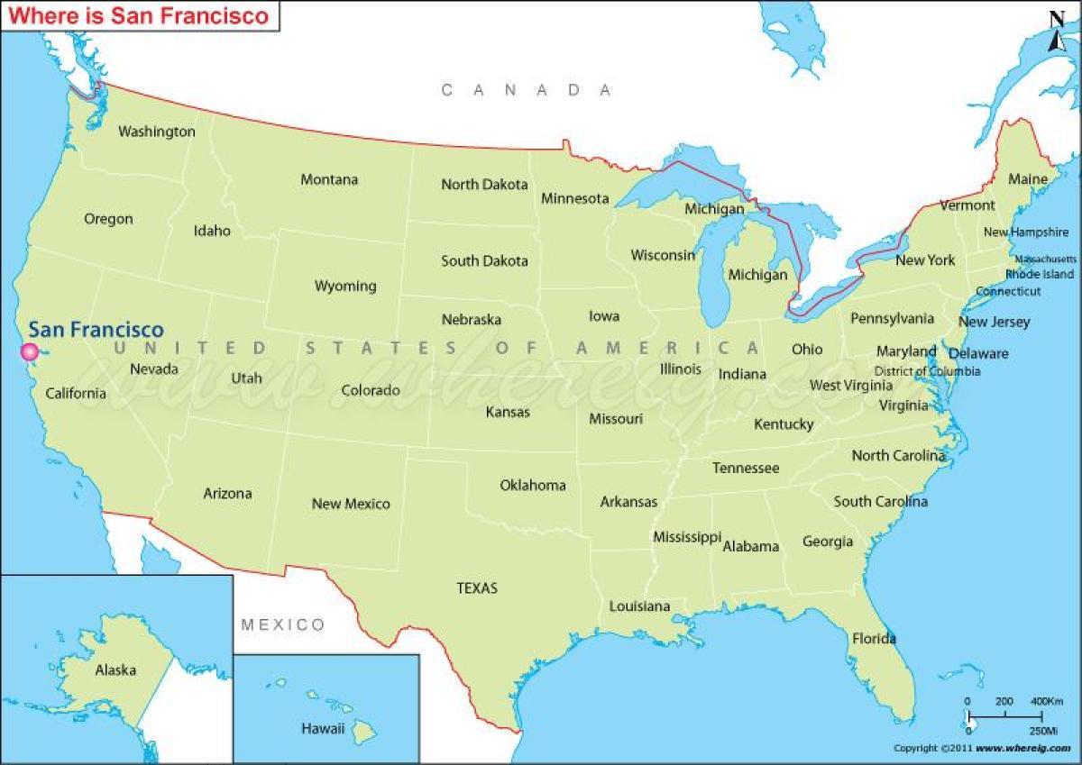 Americké spojené mapa státy Niagarské vodopády
